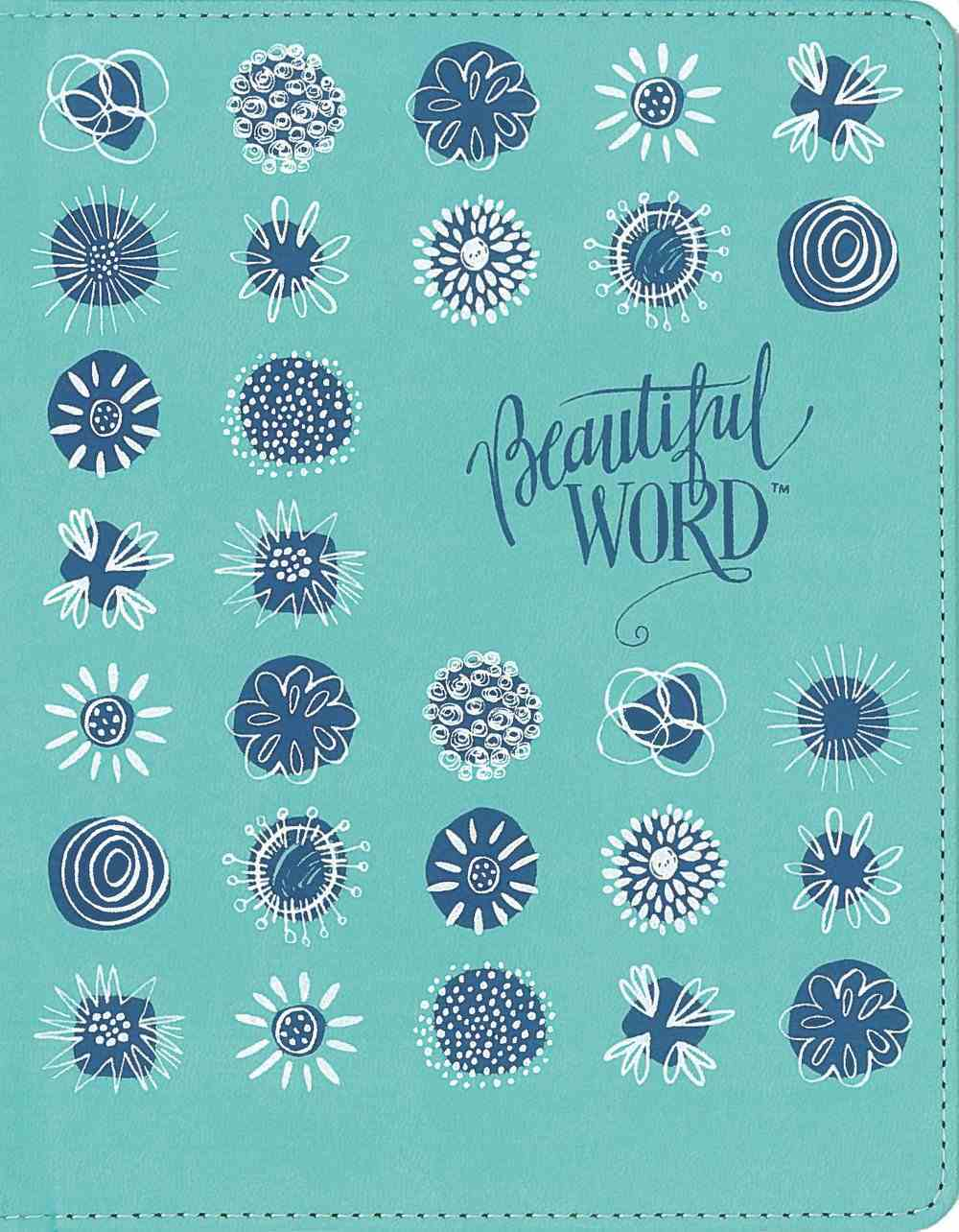 NIV Beautiul Word Coloring Bible For Girls Pencil/Sticker Gift Set Teal Imitation Leather Over Hardback