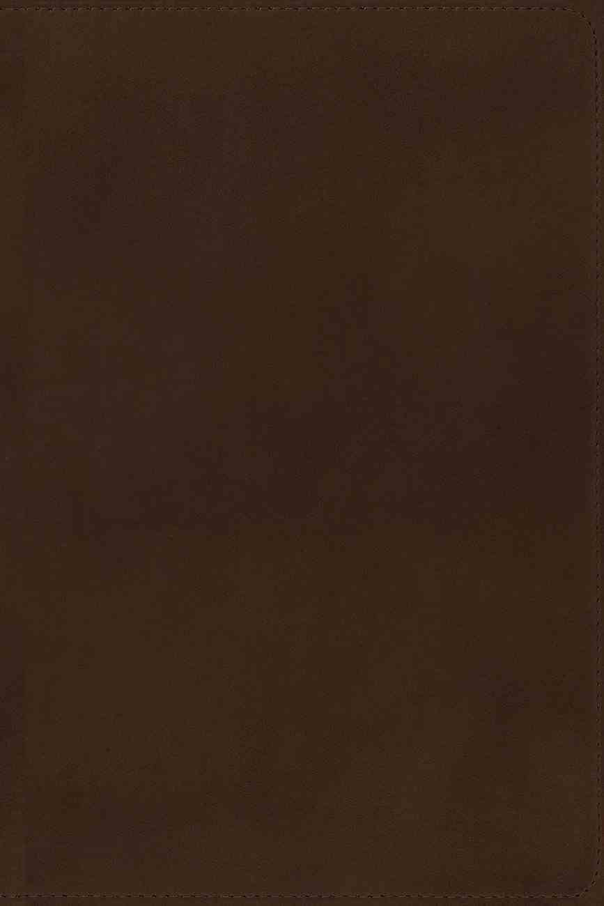 NIV Side-Column Reference Bible Wide Margin Brown Premier Collection Genuine Leather