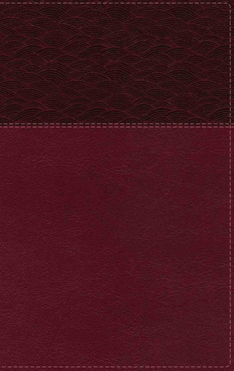 NASB Thinline Bible Large Print Burgundy (Red Letter Edition) Premium Imitation Leather