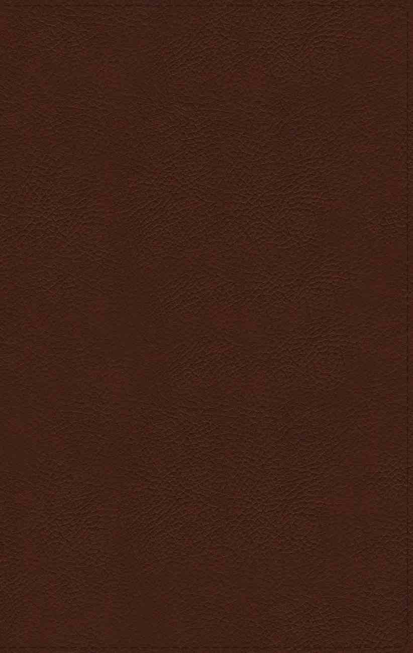 NIV Thinline Bible Giant Print Brown (Red Letter Edition) Genuine Leather
