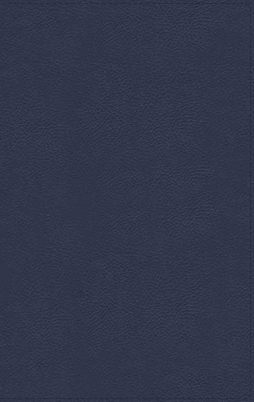 NIV Thinline Reference Bible Large Print Blue (Red Letter Edition) (Red Letter Edition) Genuine Leather