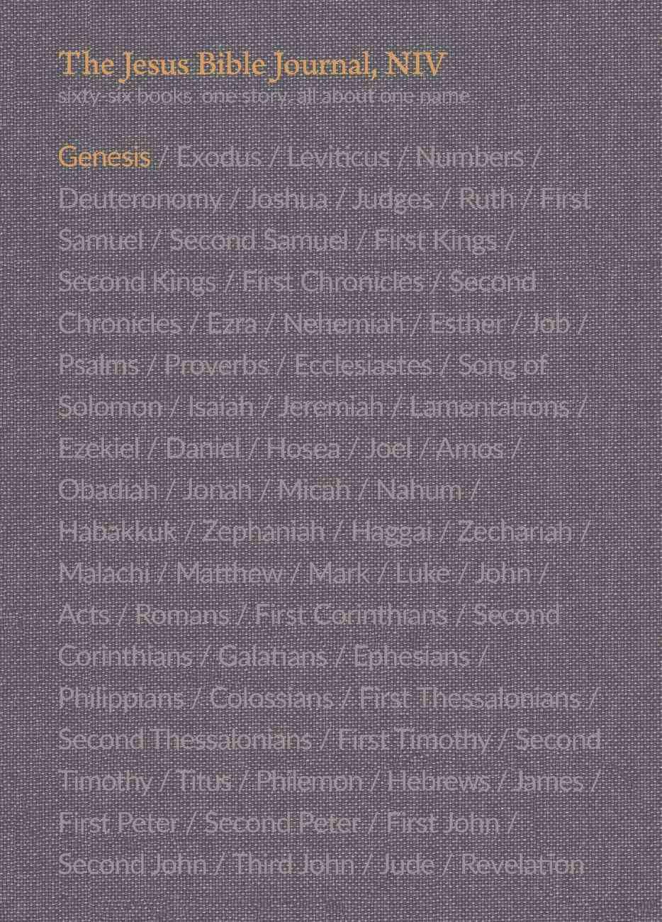 NIV Jesus Bible Journal Genesis Paperback