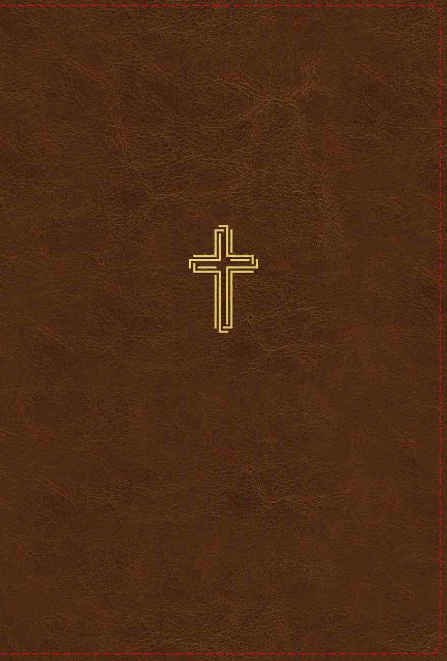 NASB Thinline Bible Large Print Brown 1995 Text Thumb Index (Red Letter Edition) Premium Imitation Leather