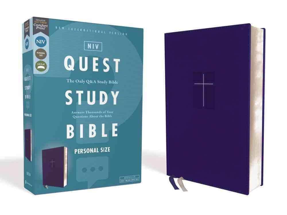 NIV Quest Study Bible Personal Size Blue Premium Imitation Leather