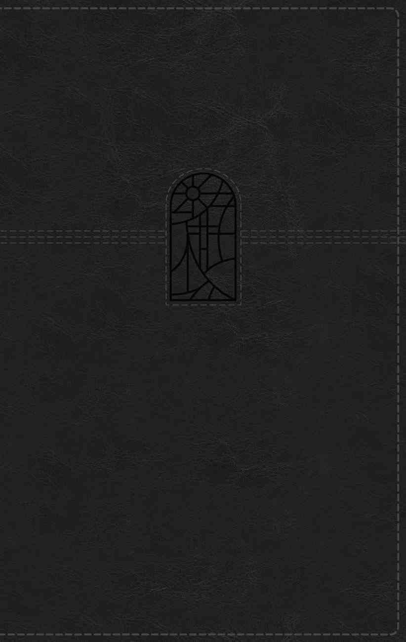 NRSV Personal Size Large Print Bible With Apocrypha Black Premium Imitation Leather