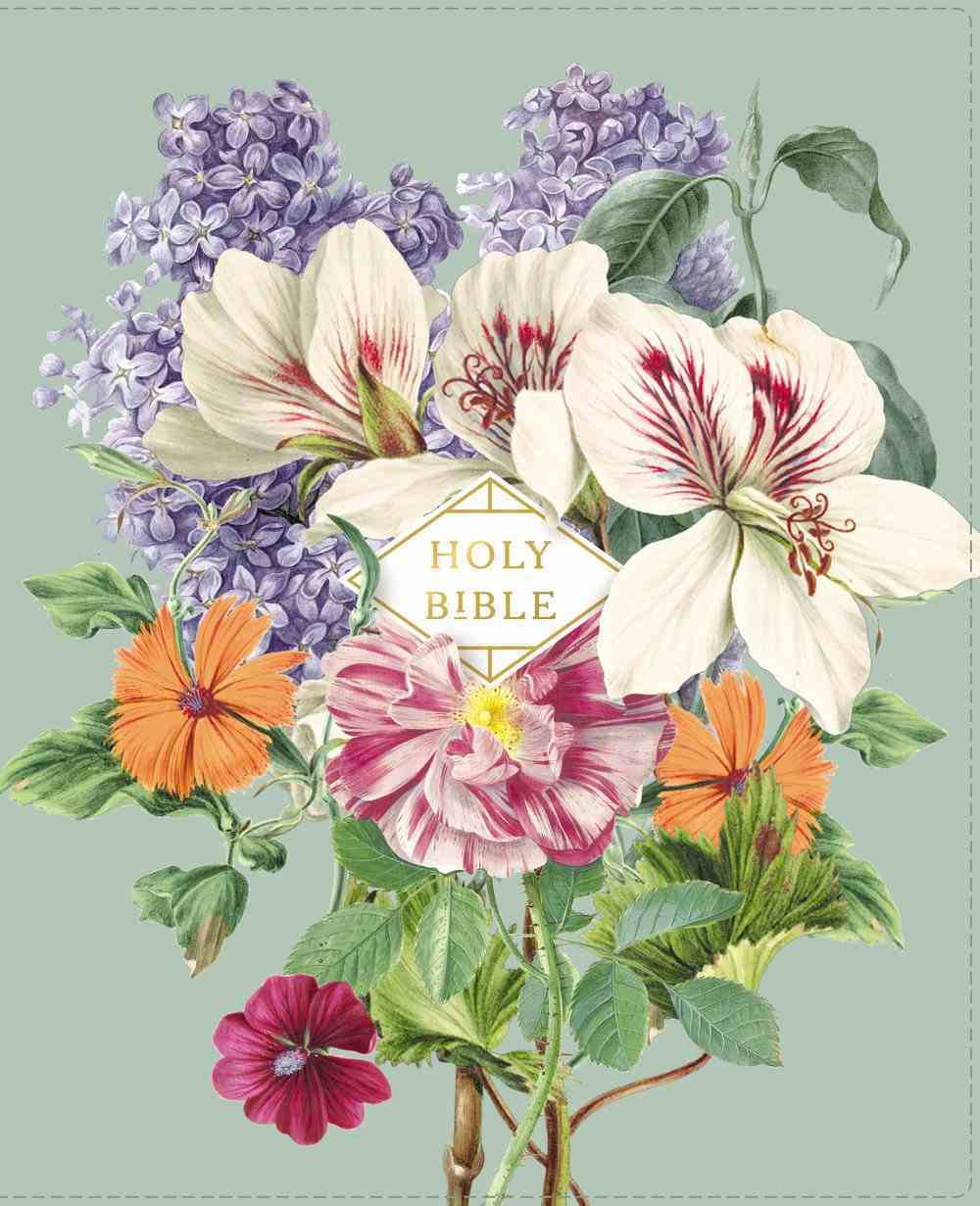 NASB Artisan Collection Bible Sage Floral 1995 Text (Red Letter Edition) Premium Imitation Leather