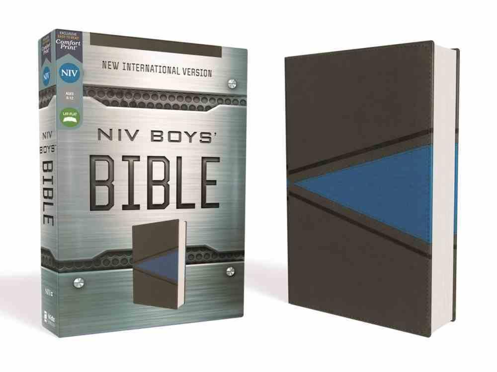 NIV Boys Bible Gray/Blue Premium Imitation Leather
