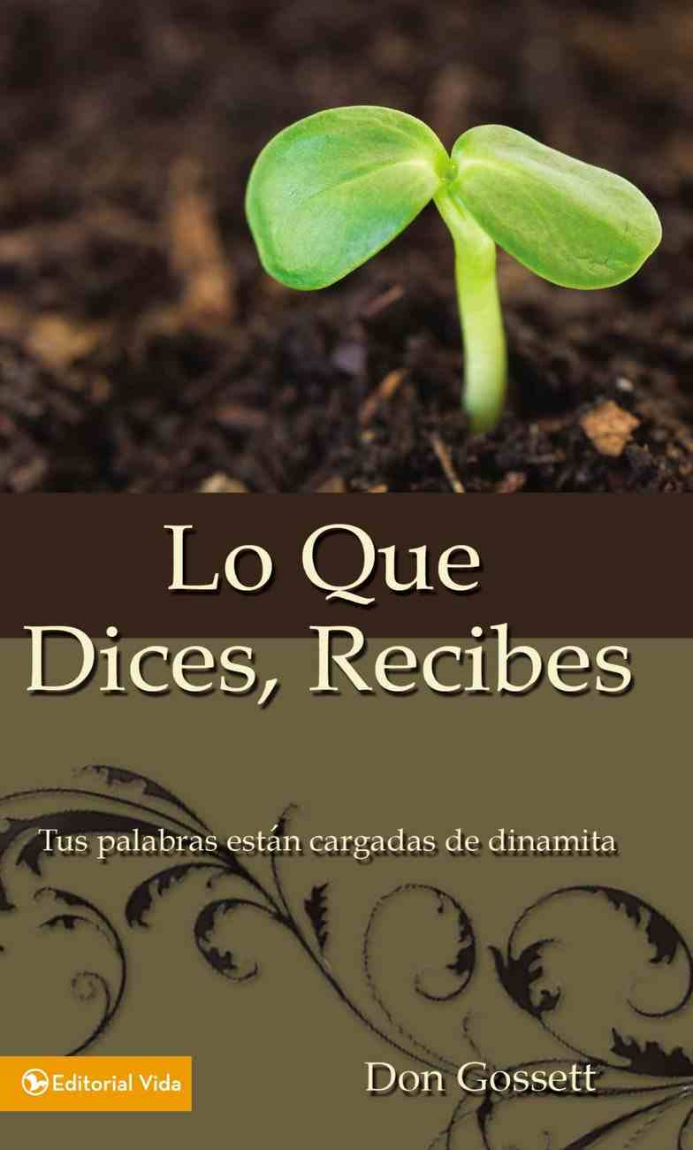 Lo Que Dices, Recibes (What You Say Is What You Get) Paperback