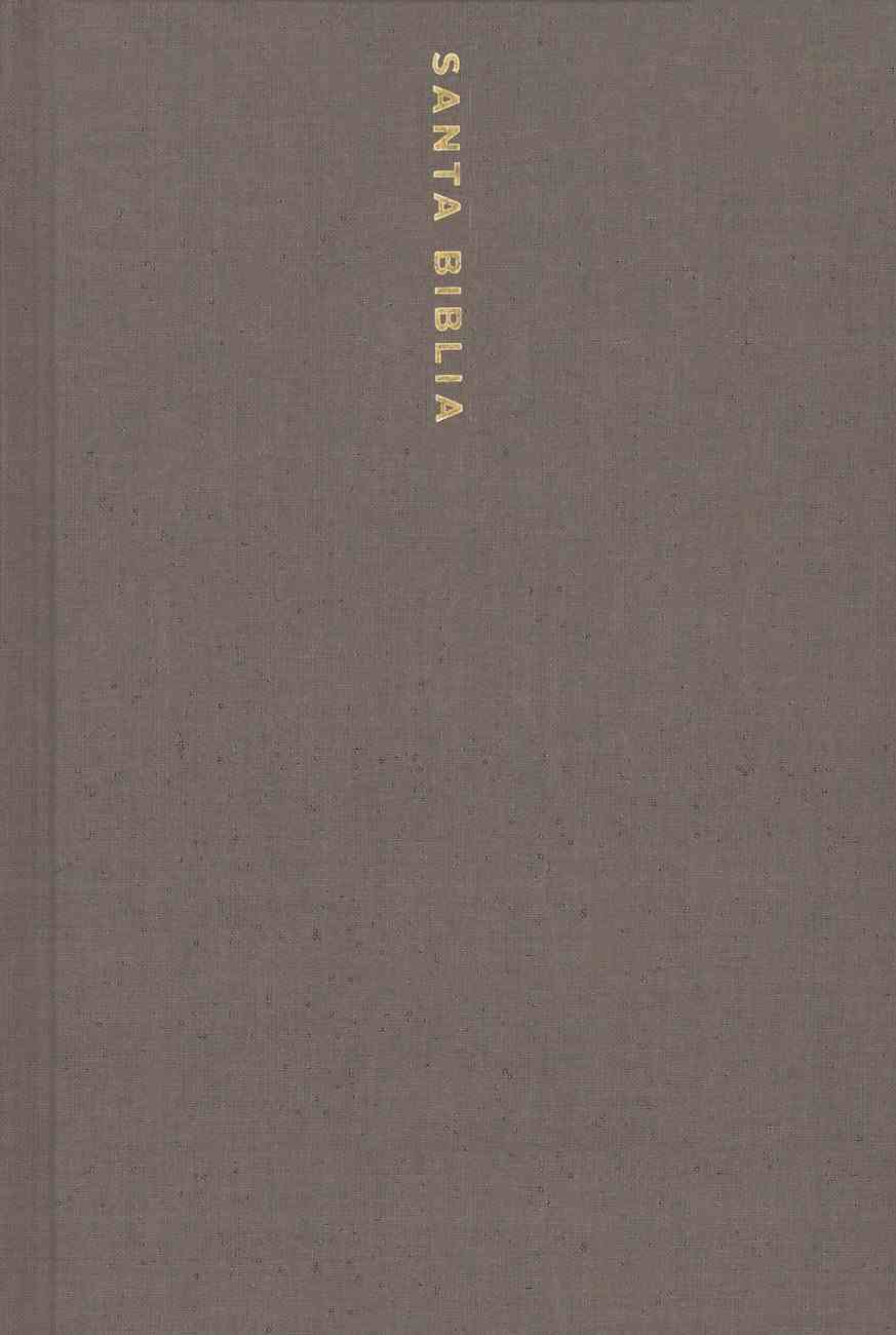 Nbla Santa Biblia Ultrafina Letra Gigante Gris (Red Letter Edition) (Utrathin Giant Print Holy Bible) Hardback