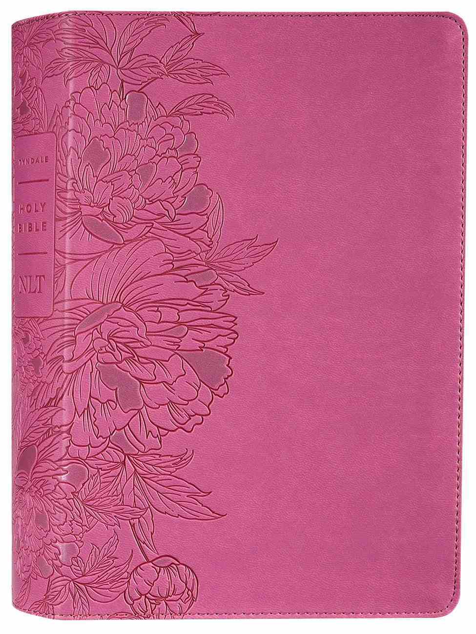 NLT Personal Size Giant Print Bible Filament Enabled Edition Peony Pink (Red Letter Edition) Imitation Leather