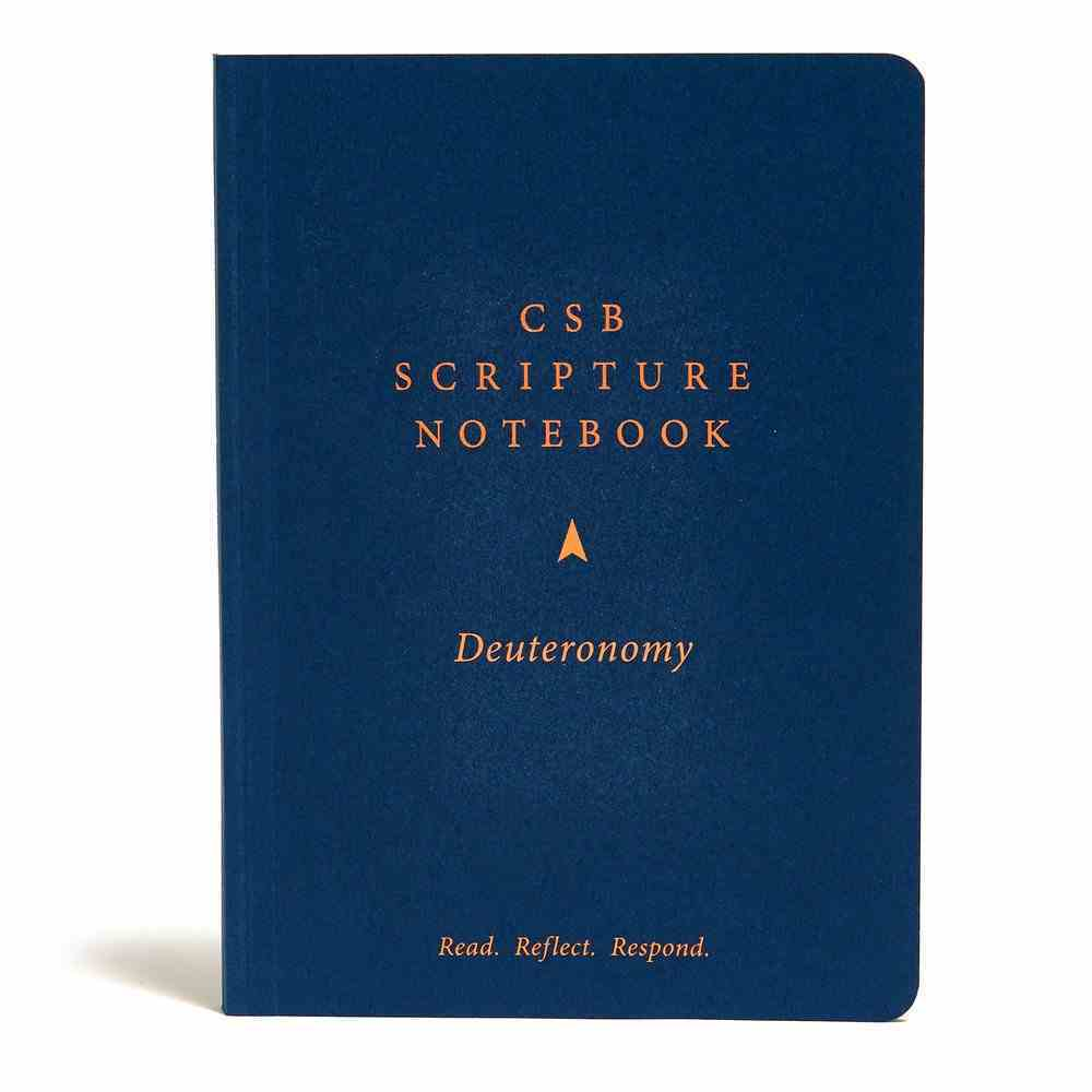 CSB Scripture Notebook Deuteronomy Paperback