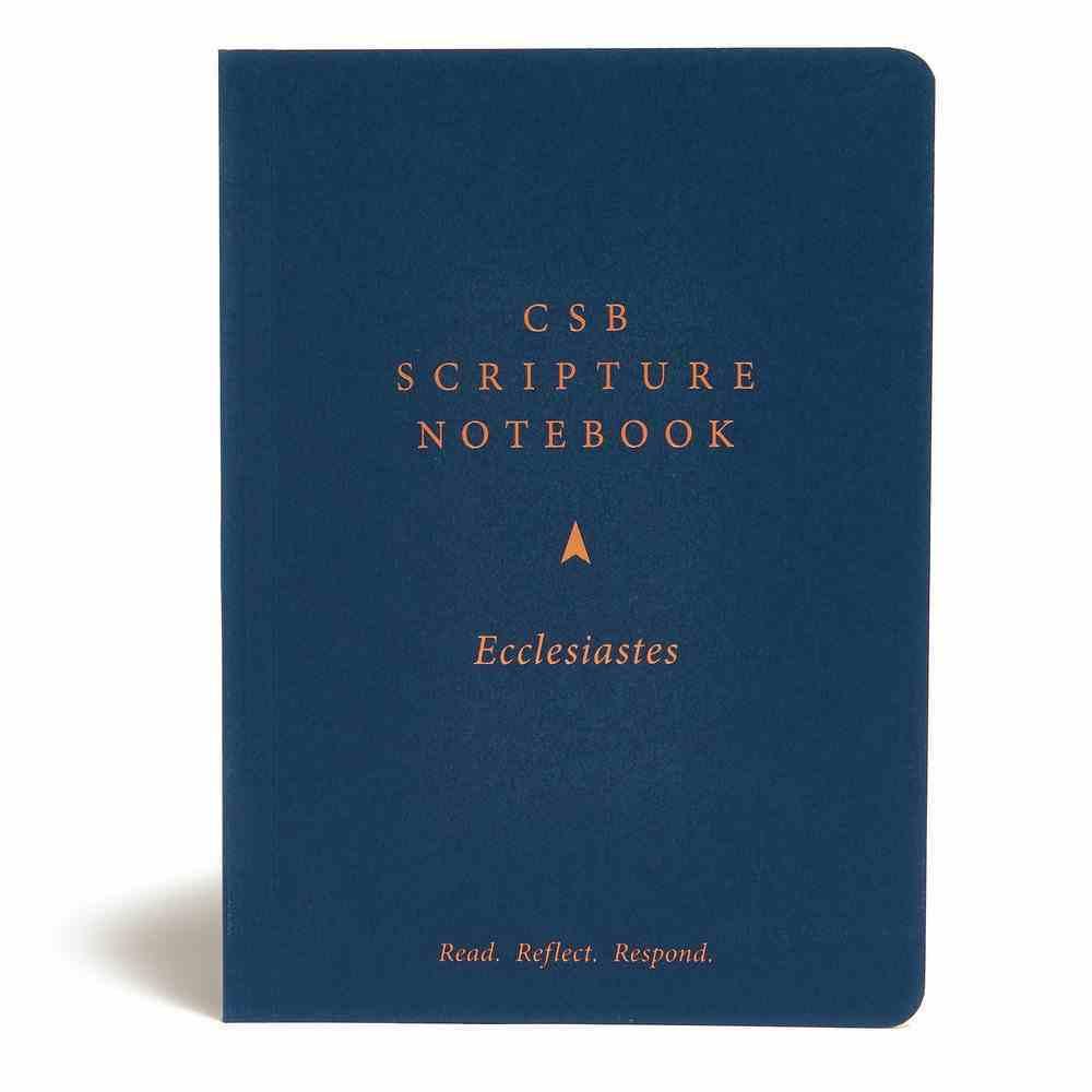 CSB Scripture Notebook Ecclesiastes Paperback