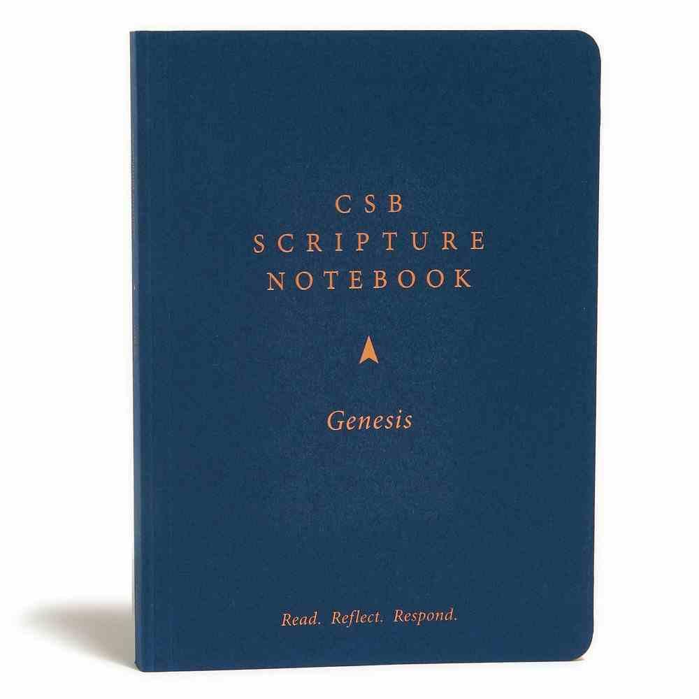 CSB Scripture Notebook Genesis Paperback