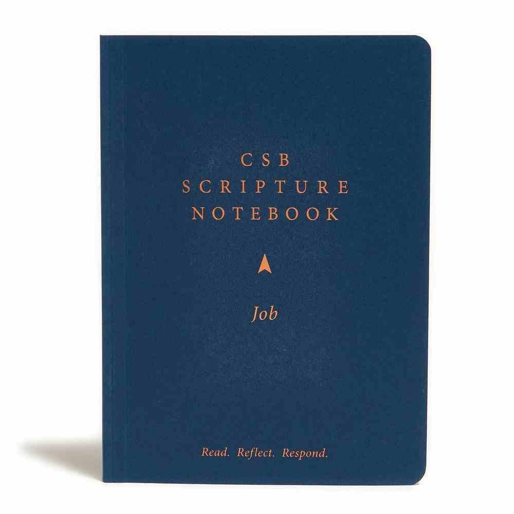 CSB Scripture Notebook Job Paperback