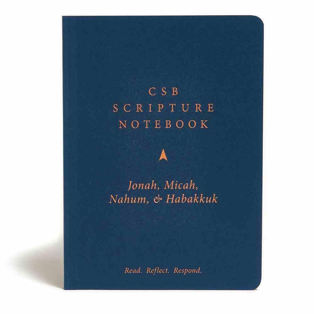 CSB Scripture Notebook Jonah, Micah, Nahum & Habakkuk Paperback