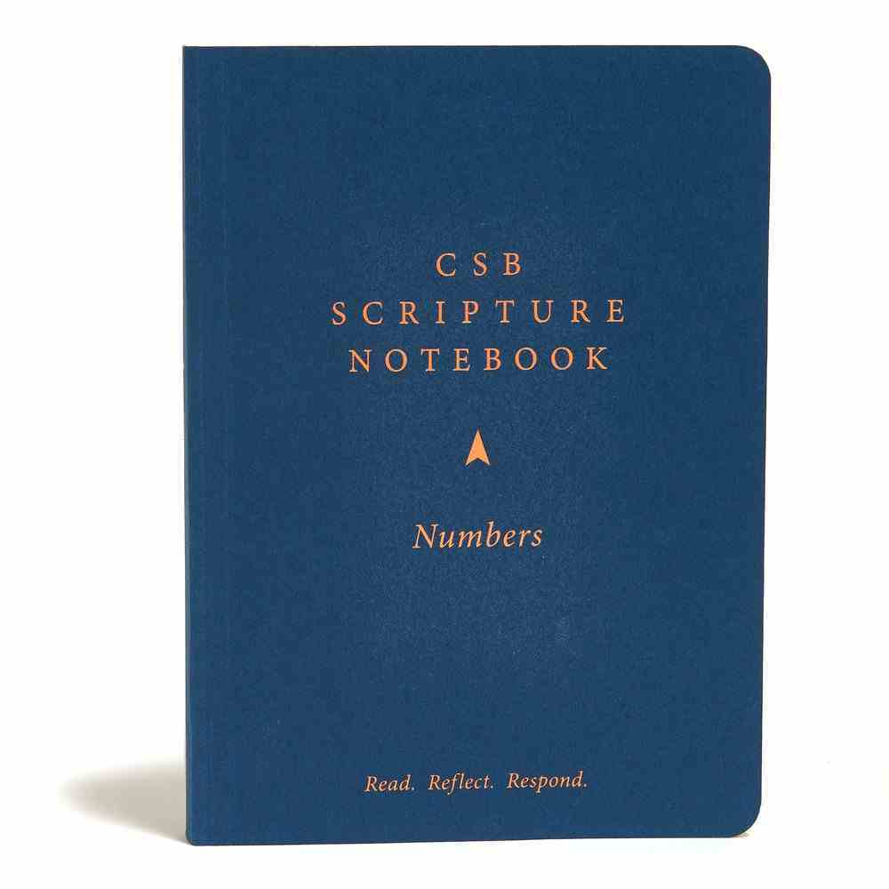 CSB Scripture Notebook Numbers Paperback
