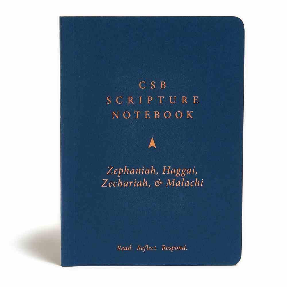CSB Scripture Notebook Zephaniah, Haggai, Zechariah & Malachi Paperback