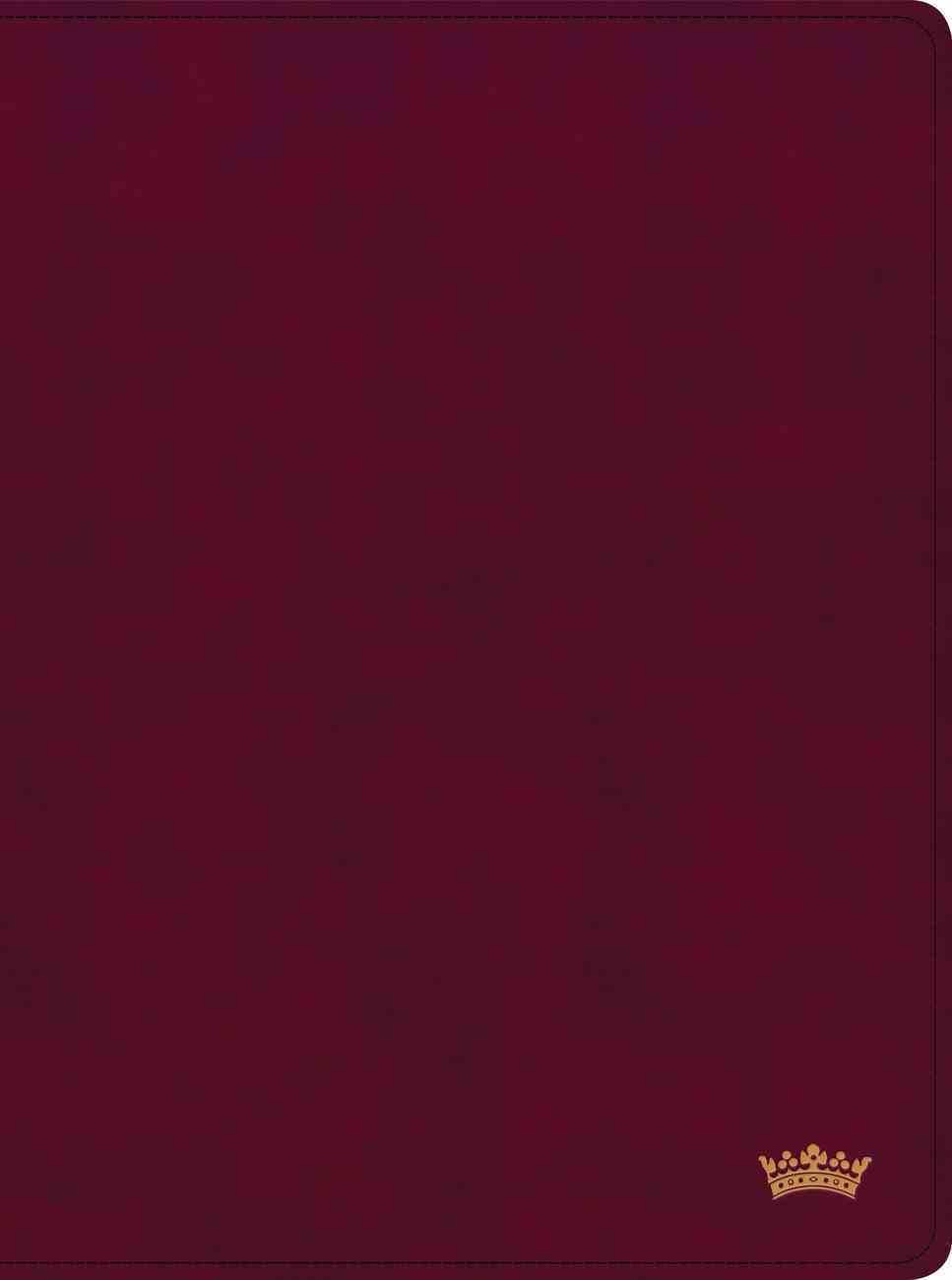 CSB Tony Evans Study Bible Burgundy (Black Letter Edition) Imitation Leather
