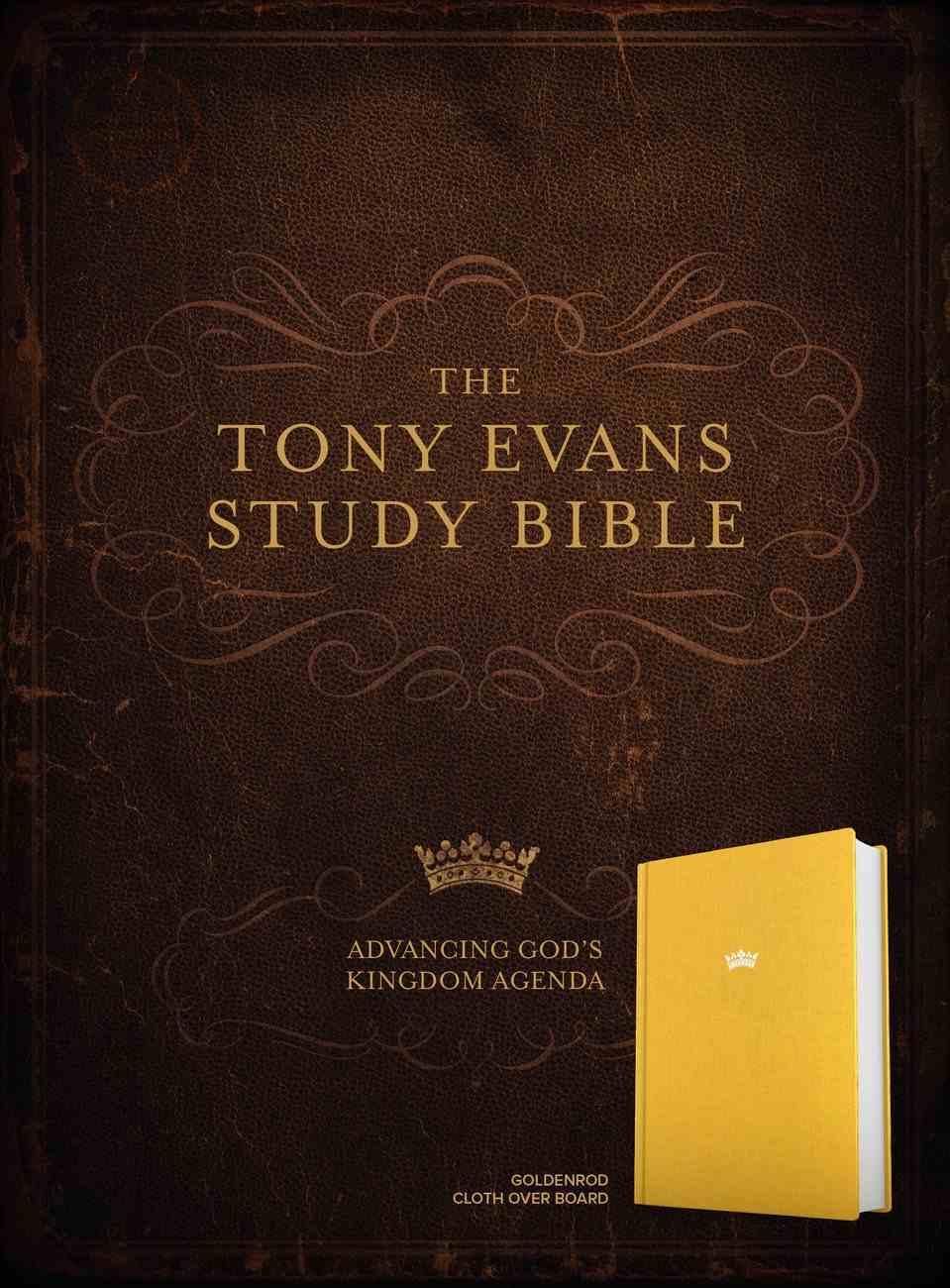 CSB Tony Evans Study Bible Goldenrod (Black Letter Edition) Fabric Over Hardback