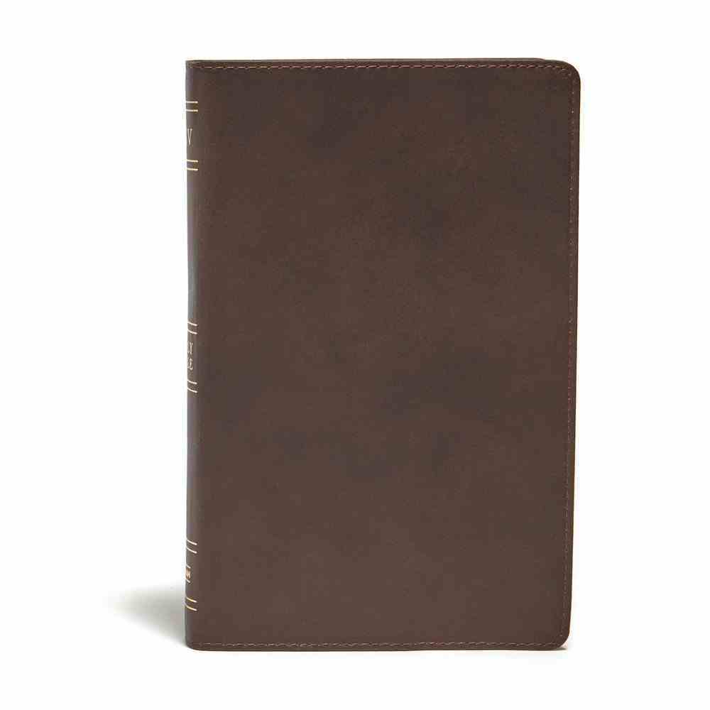 KJV Ultrathin Reference Bible Brown Indexed (Red Letter Edition) Genuine Leather