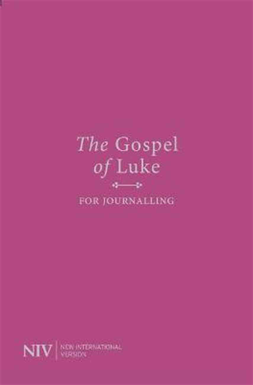 NIV Gospel of Luke For Journalling Anglicised Text Paperback