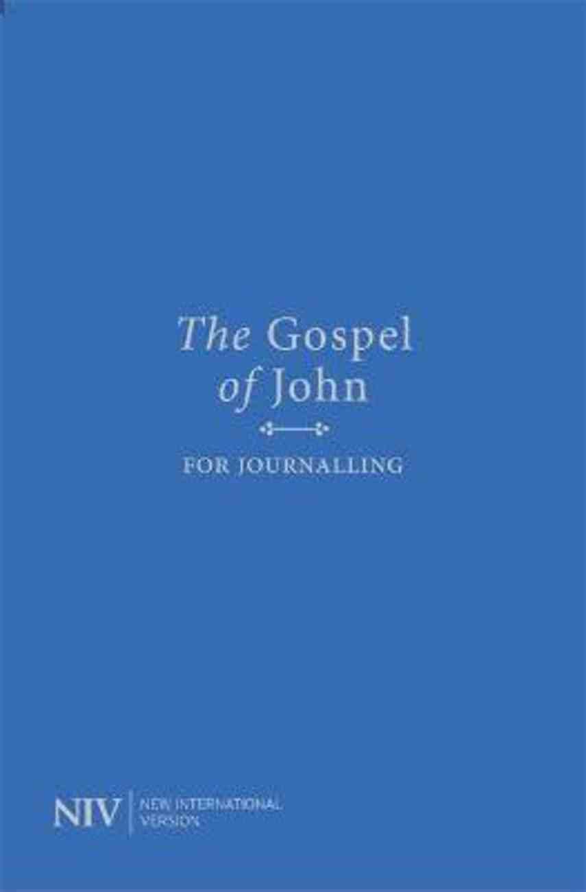 NIV Gospel of John For Journalling Anglicised Text Paperback