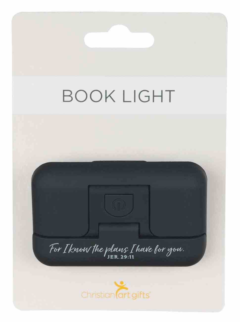 Pivoting Led Booklight: For I Know the Plans, Jer 29:11, Black Homeware