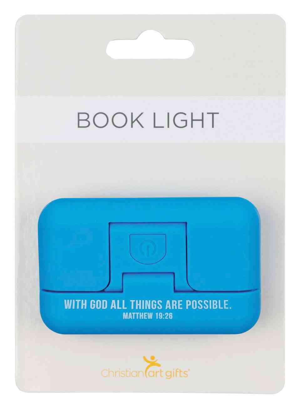 Pivoting Led Booklight: With God All Things Are Possible, Matt 19:26, Blue Homeware