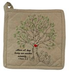 Pot Holder Organic Beige (Aco Certified Organic Cotton) (Above All Keep Loving 1 Peter 4: 8) (Australiana Products Series) Homeware