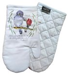 Oven Mitt Organic White (Aco Certified Organic Cotton) (And Now Abide 1 Cor 13: 12) (Australiana Products Series) Homeware