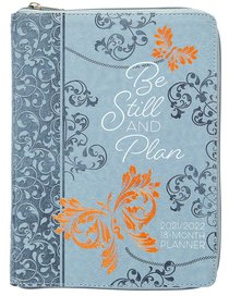 Product: 2022 18 Month Planner: Be Still And Plan (Faux Ziparound) Image