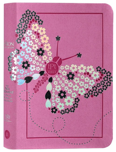 Product: The Passion Translation New Testament With Psalms Proverbs And Song Of Songs (2020 Edn) Youth Girls Butterfly Image