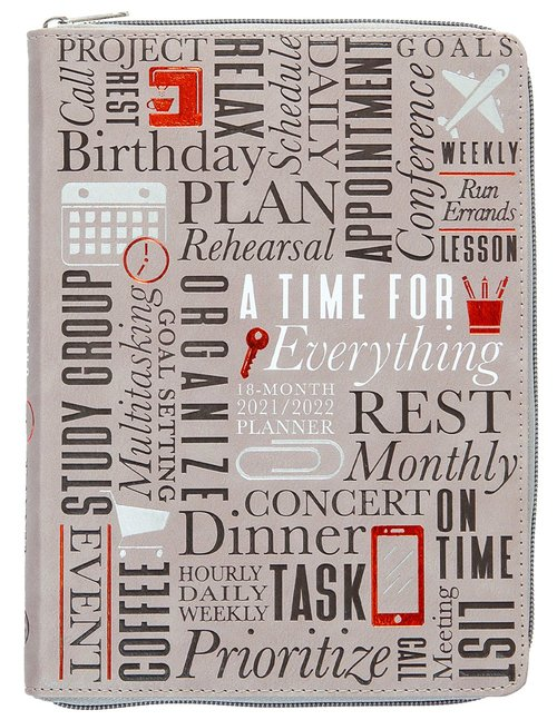 Product: 2022 18 Month Planner: A Time For Everything (Faux Ziparound) Image