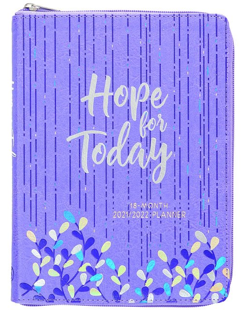 Product: 2022 18 Month Planner: Hope For Today (Faux Ziparound) Image