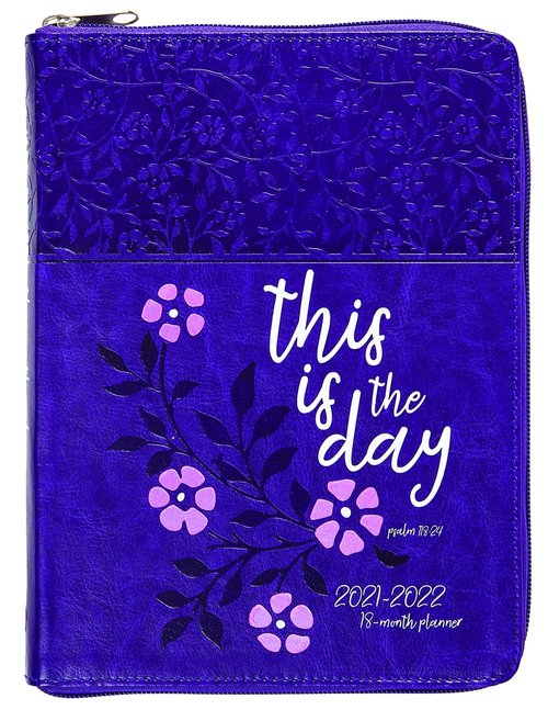 Product: 2022 18 Month Planner: This Is The Day (Faux Ziparound) Image