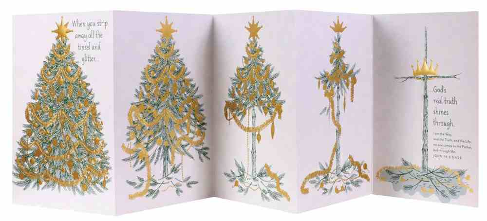 Christmas Boxed Cards: Five Panel Card Tree to Cross (John 14:6 Nasb) Box