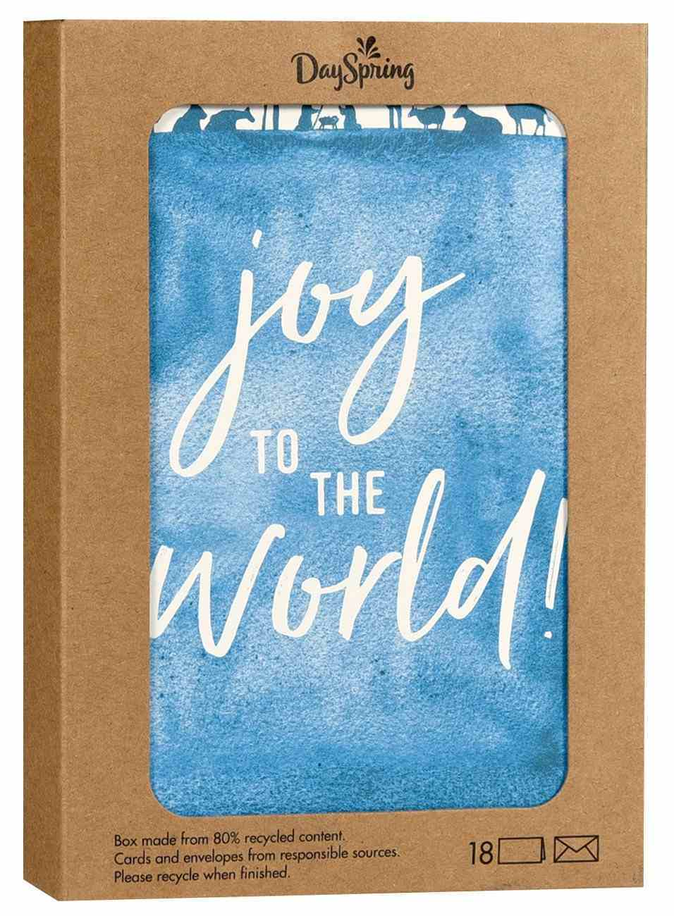 Christmas Boxed Cards: Joy to the World Good Steward (Psalm 95:1 Niv) Box