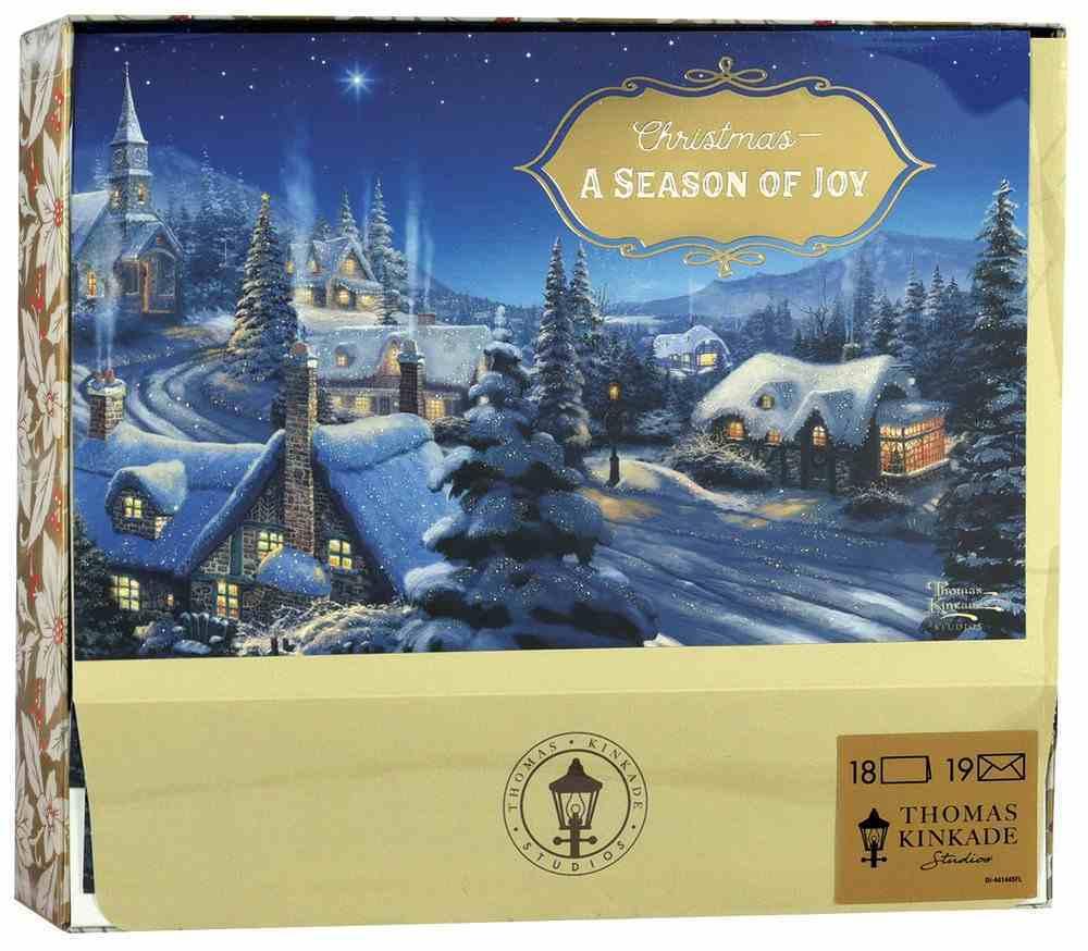 Christmas Boxed Cards: Thomas Kinkade a Season of Joy (Romans 15:13 Kjv) Box