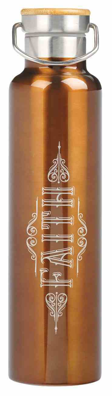 Stainless Steel Water Bottle: Faith, Brown (770ml) Homeware