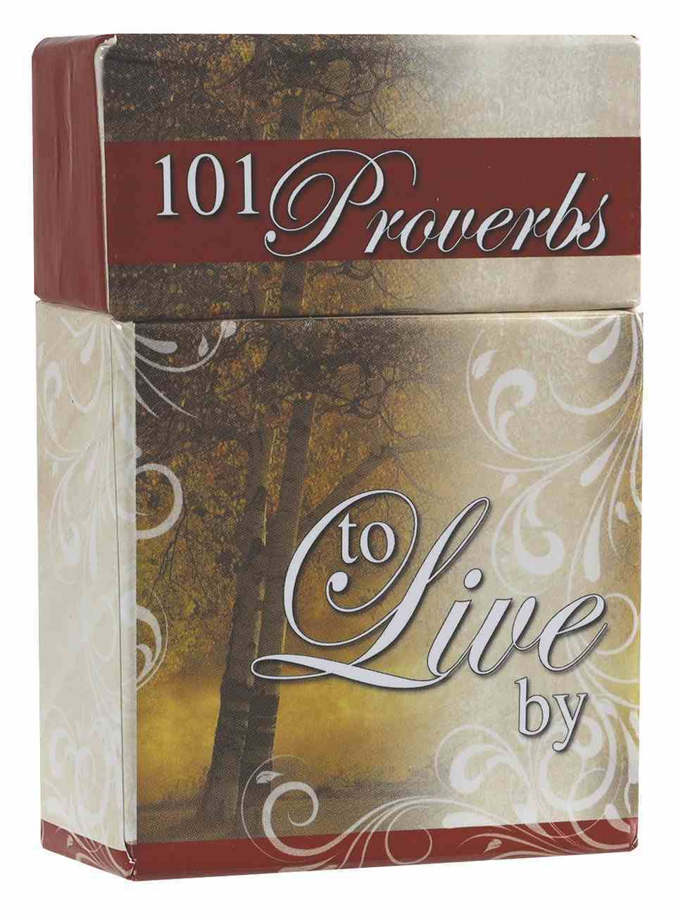 Box of Blessings: 101 Proverbs to Live By Cards Stationery