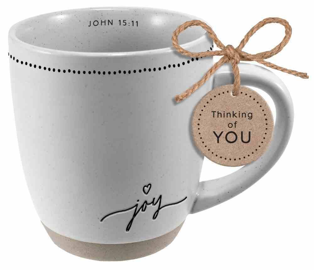 Ceramic Mug: Joy (John 15:11) Textured Etched Encouragement (414 Ml) Homeware