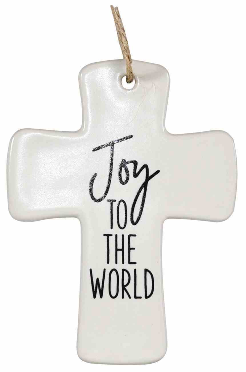 Cross Ornament: Joy to the World Homeware