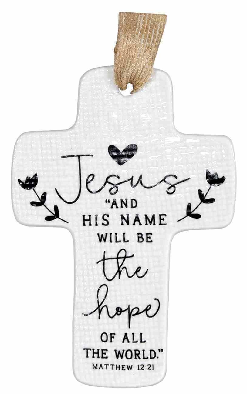 Cross Ornament: Jesus Hope Homeware