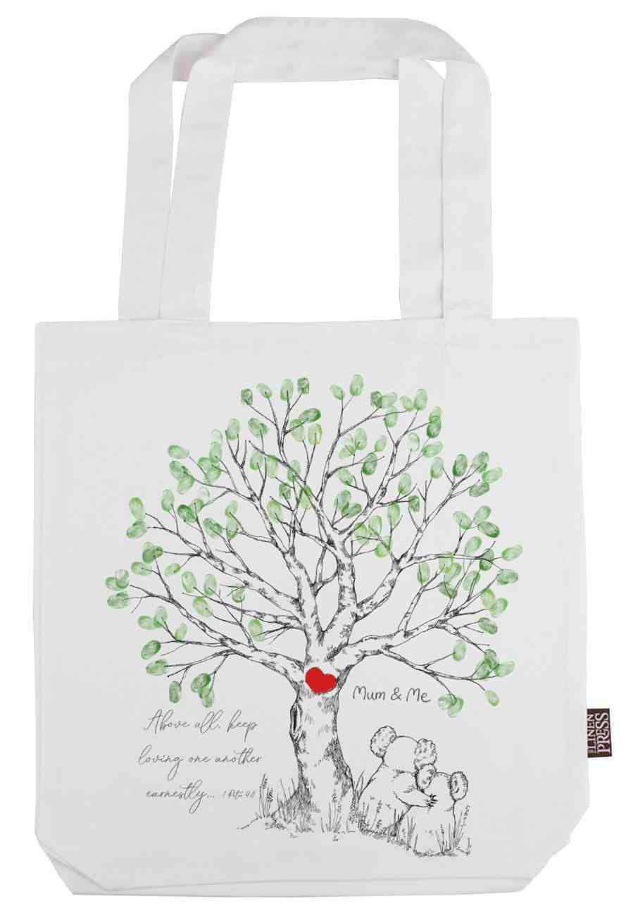 Tote Bag Organic White (Aco Certified Organic Cotton) (Above All Keep Loving 1 Peter 4: 8) (Australiana Products Series) Homeware