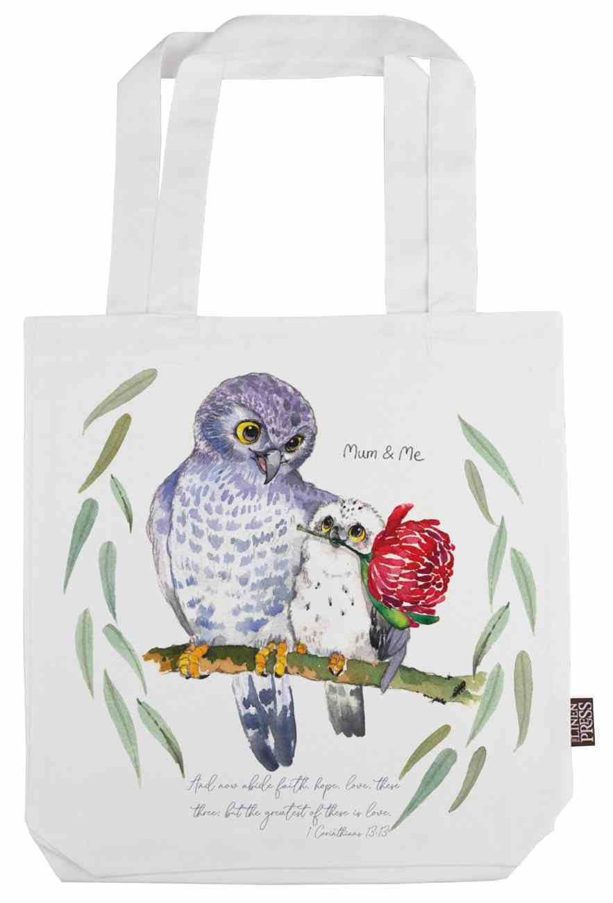 Tote Bag Organic White (Aco Certified Organic Cotton) (And Now Abide 1 Cor 13: 12) (Australiana Products Series) Homeware