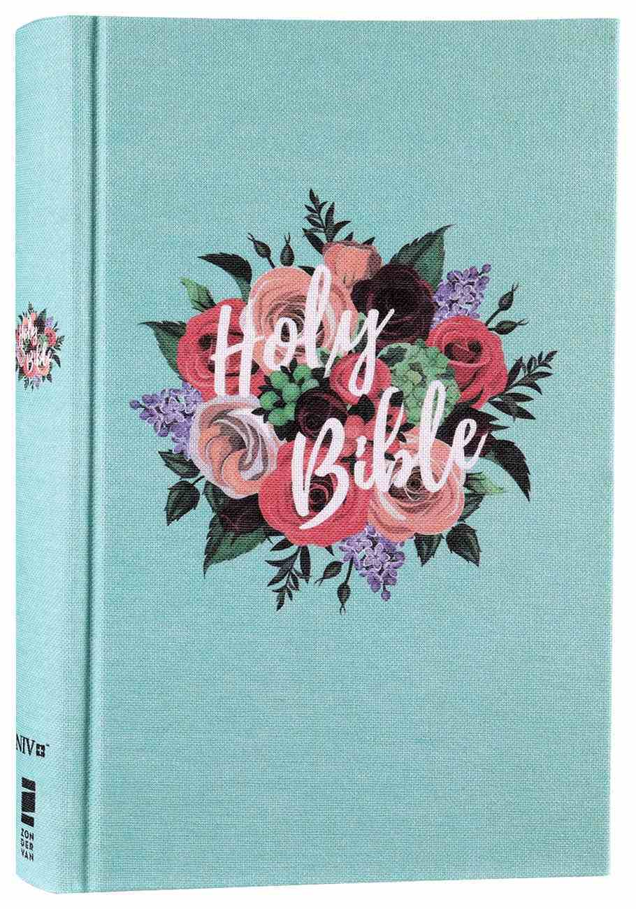 NIV Bible For Teens Thinline Edition Floral (Red Letter Edition) Fabric Over Hardback