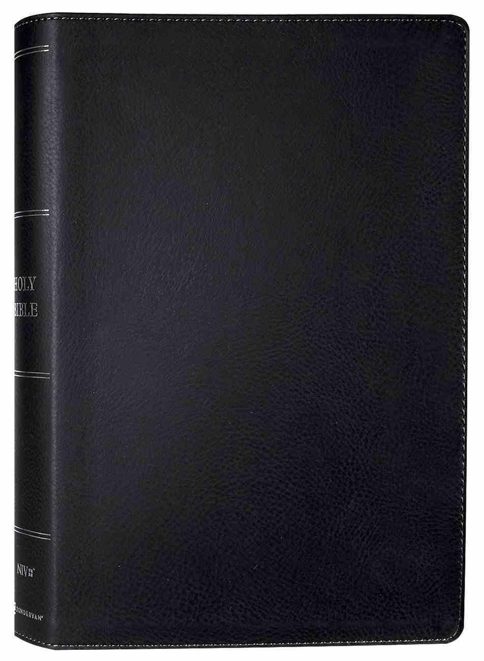 NIV Side-Column Reference Bible Wide Margin Black (Black Letter Edition) Premium Imitation Leather
