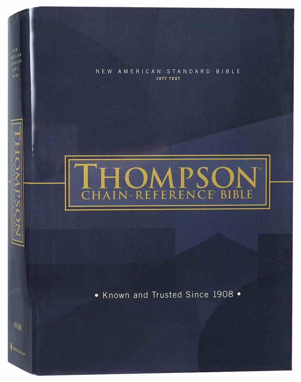 NASB Thompson Chain-Reference Bible 1977 Text (Red Letter Edition) Hardback