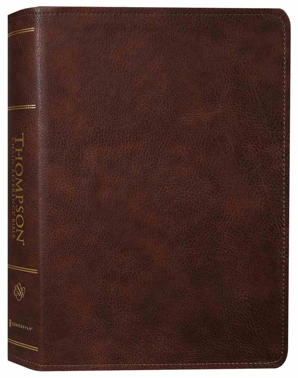 ESV Thompson Chain-Reference Bible Brown (Red Letter Edition) Premium Imitation Leather