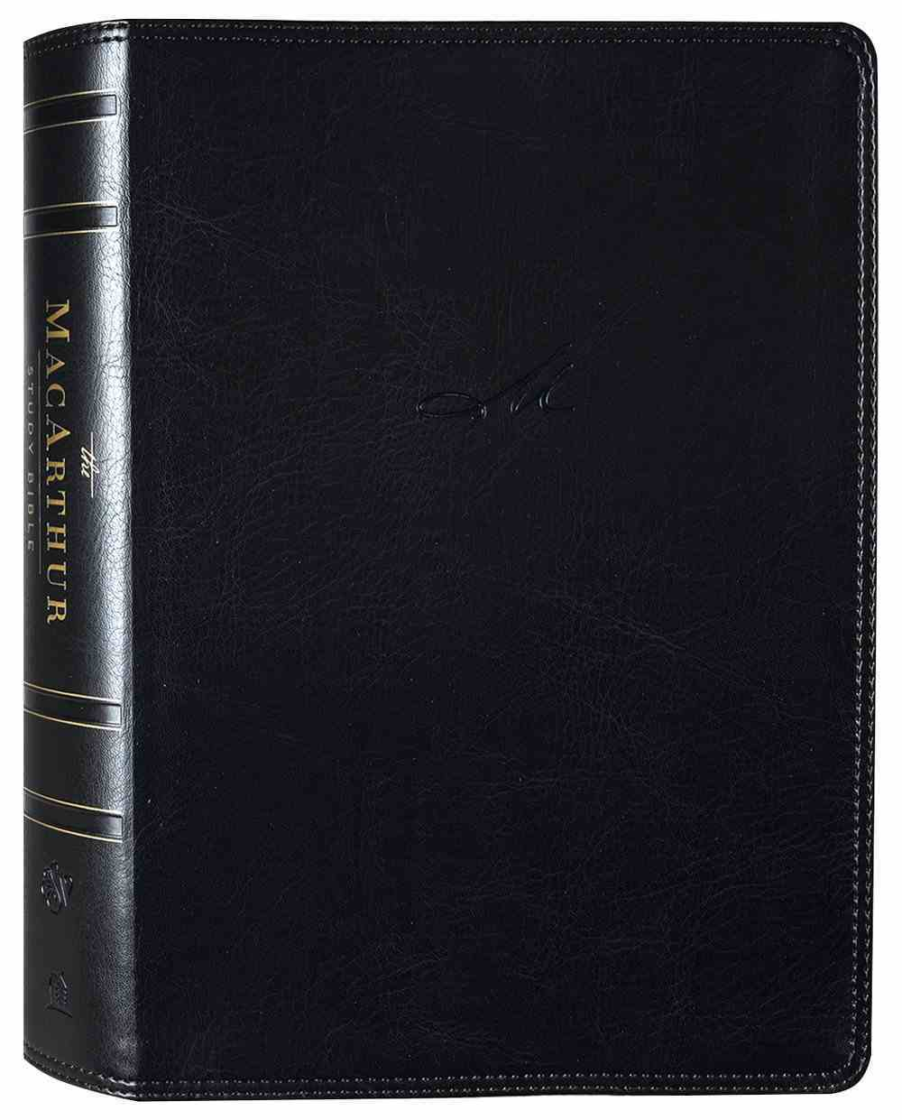 ESV Macarthur Study Bible 2nd Edition Black (Black Letter Edition) Premium Imitation Leather
